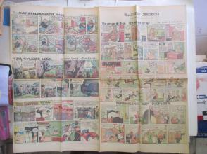 1959年外文原版彩色漫画报纸一期 1959年6月14 THE SUNDAY CHRONICLE 4开4版