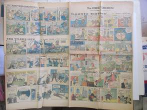 1959年外文原版彩色漫画报纸一期 1959年3月29 THE SUNDAY CHRONICLE 4开4版