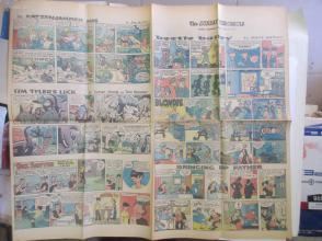 1959年外文原版彩色漫画报纸一期 1959年6月21  THE SUNDAY CHRONICLE 4开4版