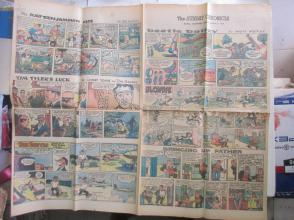 1959年外文原版彩色漫画报纸一期 1959年8月2 THE SUNDAY CHRONICLE 4开4版