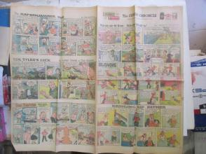 1959年外文原版彩色漫画报纸一期 1959年11月22 THE SUNDAY CHRONICLE 4开4版