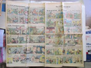1959年外文原版彩色漫画报纸一期 1959年4月5 THE SUNDAY CHRONICLE 4开4版