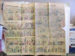 1959年外文原版彩色漫画报纸一期 1959年6月28  THE SUNDAY CHRONICLE 4开4版