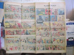 1959年外文原版彩色漫画报纸一期 1959年2月8 THE SUNDAY CHRONICLE 4开4版