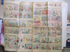 1959年外文原版彩色漫画报纸一期 1959年11月29 THE SUNDAY CHRONICLE 4开4版