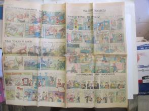 1959年外文原版彩色漫画报纸一期 1959年5月17  THE SUNDAY CHRONICLE 4开4版
