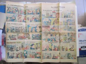 1959年外文原版彩色漫画报纸一期 1959年3月8 THE SUNDAY CHRONICLE 4开4版