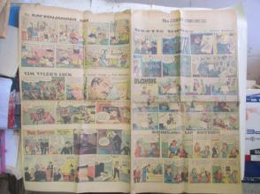 1959年外文原版彩色漫画报纸一期 1959年2月22 THE SUNDAY CHRONICLE 4开4版