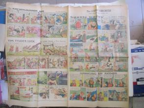 1959年外文原版彩色漫画报纸一期 1959年10月4 THE SUNDAY CHRONICLE 4开4版