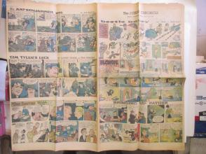 1959年外文原版彩色漫画报纸一期 1959年4月12 THE SUNDAY CHRONICLE 4开4版