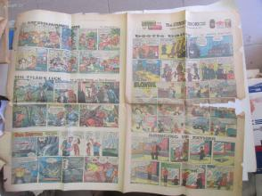 1959年外文原版彩色漫画报纸一期 1959年10月18 THE SUNDAY CHRONICLE 4开4版