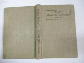 民国外文原版 1915年 PLANE ANALYTIC GEOMETRY BOCHER 32开精装本 私人收藏品相较好