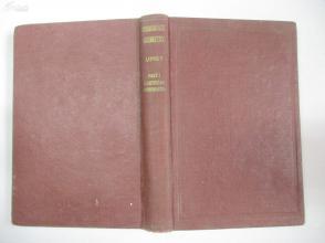 外文签名本批校多处 民国外文原版 1933年 THE ELEMENTS OF COORDINATE GEOMETRY  32开精装本