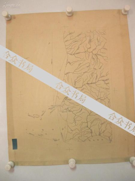 著名出版家《读书》主编沈 昌 文  签名校对 50-60年代手绘地图一幅 《葡萄牙》 尺寸54/44厘米