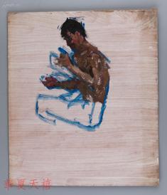 西安美术学院油画系副主任、油画家 董钢油画作品《人物》一幅 (未画完) HXTX104958