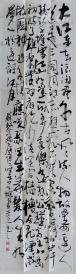 177  精品草书书法作品 条幅 《念奴娇·赤壁怀古》 170x50