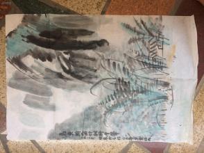 《乌鱼骄九曲竹树醉千峯》1980年已已年金宝临画--原画