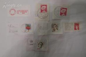 1元清仓  外国邮票邮戳7枚3