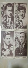 49)五十年代《苏联电影明星》画片   4枚  合售