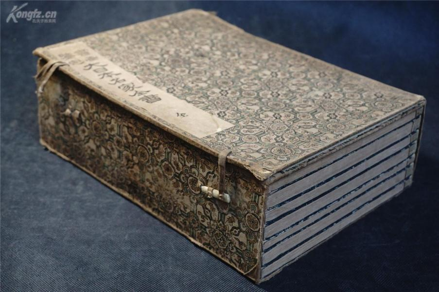 【印 谱 集】 ,1913年 和刻本《书画鉴定 大日本名家全书》1函七册全套,印谱。