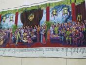 织锦49年后国 家领 导人等与社会名人及各民族代表春节茶话会,红色收藏展览