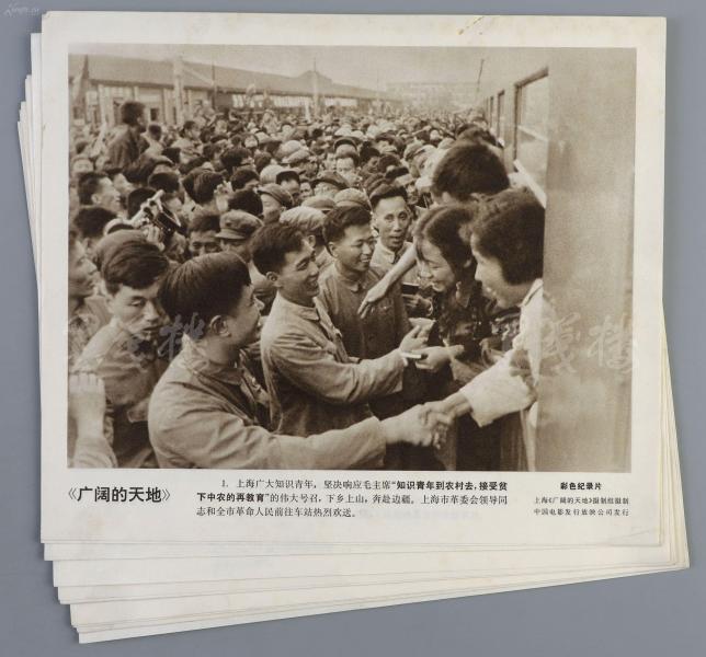 1969年上映 中国电影发行放映公司出品 彩色纪录片《广阔的天地》剧照图片 一套12张全(尺寸:23*27cm*12) HXTX110432