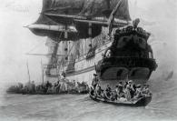 1885年法国艺术系列凹版蚀版画—《曼侬.莱斯科》CHARLES EDOUARD DELORT作品 37x28cm