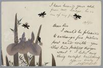 清末 日本手绘彩色实寄明信片 一张(贴有菊切手邮票三枚,销英文邮戳,尺寸:9.1*14.1cm)HXTX312564