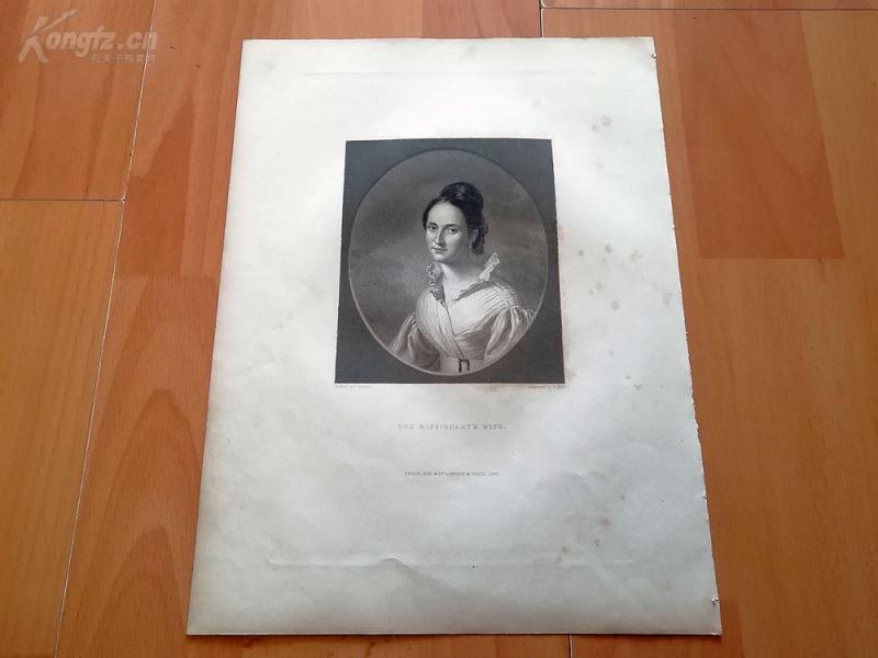 1845年钢版画《传教士的妻子》(THE MISSIONARYS WIFE)--选自人民画廊--纸张尺寸27*20.5厘米(2)