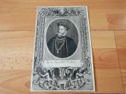 18世纪铜版蚀刻《肖像--乔治先生》(georg khevenhiller freyherr)--纸张28.5*18.3厘米