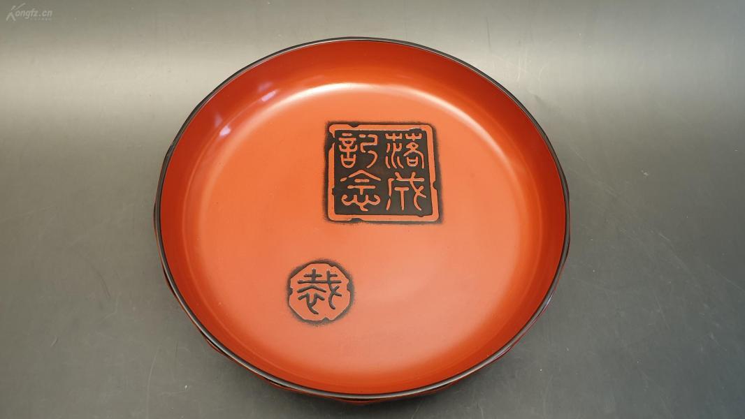 N 0386   不明材质的漆盘