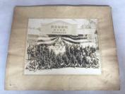 """二战老照片《冈崎警防团美合分团唧筒自动车置场》大幅一张。""""警防团""""是战时编外的执行消防,救灾,治安等任务的团体。"""