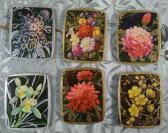 1978年花卉画1套6全,中国土产畜产进出口总公司广东省土产分公司