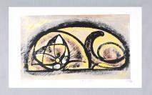 叶浅予弟子、著名画家 李少文 2012年亲笔签名 丝网版画作品《憩》一幅( 作品编号为:59/100,作品直接得自于艺术家本人!) HXTX110987