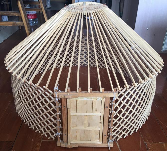 纯手工制作蒙古包模型