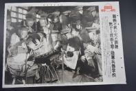(特2799)侵华史料 《日本陆军兵器学校磨练技术 加紧备战》新闻宣传页 老照片写真 同盟写真特报 单页双面 尺寸51.5cm*36.5cm 同盟通信社发行1941年10月11日第1558号