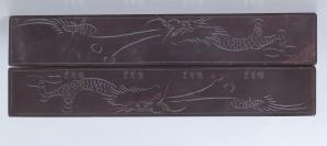 """刘-征旧藏:镌刻""""龙纹""""石镇尺 一对(尺寸约23.8*3.9*1.5cm*2)HXTX112853"""