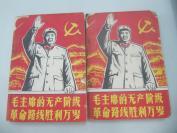 《毛主席的无产阶级革命路线胜利万岁》上下册 1969年出版32开 内有多幅毛像 下册有毛林合影 b051731