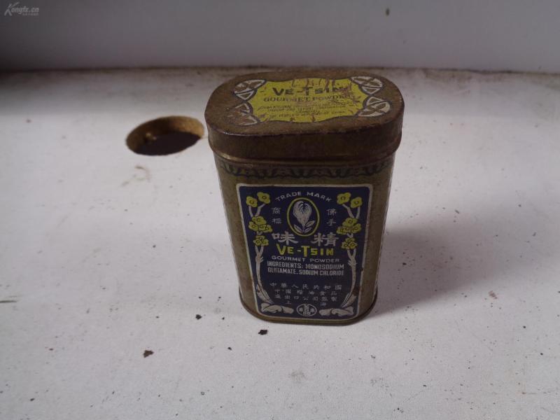 民国铁皮味精盒一个,品好如图。