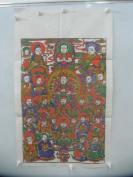 朱仙镇木版套色人物年画   佛像一大张  尺寸73/43厘米