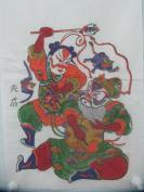 朱仙镇天成老店木版套色人物年画   一套2张  尺寸42/26厘米