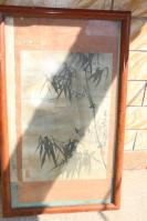 老画框老画竹