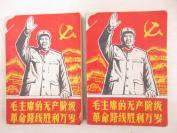 毛主席的无产阶级革命路线胜利万岁 (上下册) 无版权页 32开平装