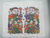 朱仙镇天成老店木版套色人物年画 一张  尺寸29/25厘米 12
