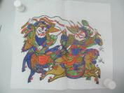 朱仙镇天成老店木版套色人物年画   一张  尺寸29/25厘米