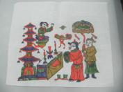 朱仙镇木版套色人物年画 一张  尺寸29/25厘米