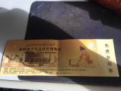 使用过,仅供收藏之用《新疆自治区博物馆门票》1张