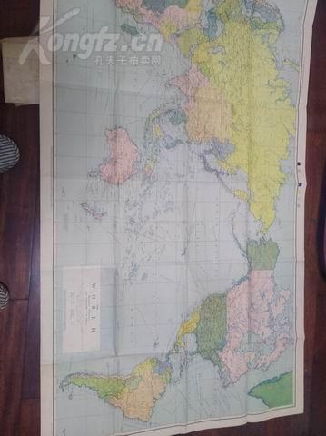 1944年超大张彩色《世界地图》