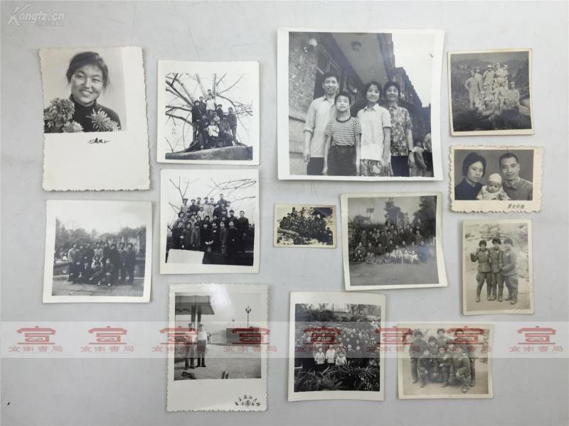 鄭-開昭舊藏:家人、戰友建國初期及抗美援朝時期照片一組十幾張合拍(部分照片背面有字,如圖)【190704B 18】