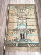 清代 133*86 彩色画在布上的历代祠堂祖宗画像一张HJ